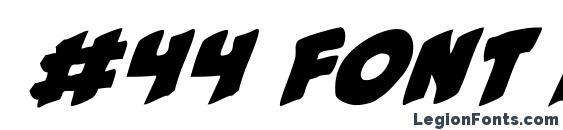Шрифт #44 font italic
