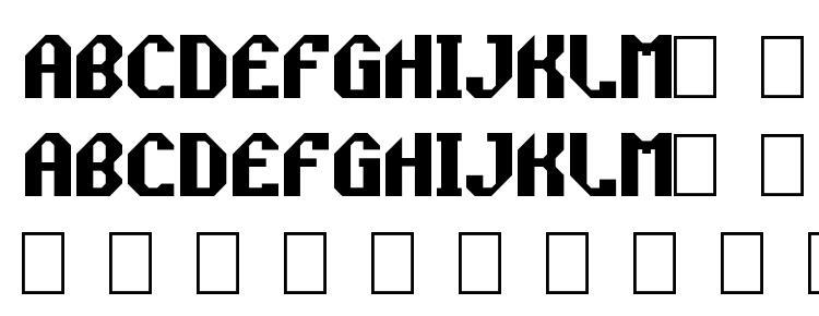 глифы шрифта ~rockprp, символы шрифта ~rockprp, символьная карта шрифта ~rockprp, предварительный просмотр шрифта ~rockprp, алфавит шрифта ~rockprp, шрифт ~rockprp