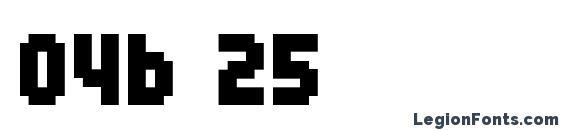 04b 25 Font