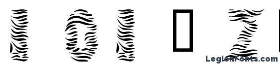 101! Zebra Print Font, African Fonts
