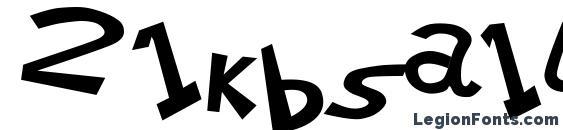 Шрифт 21kbsalu (1)
