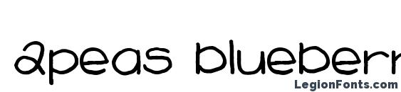 2peas blueberry pie Font