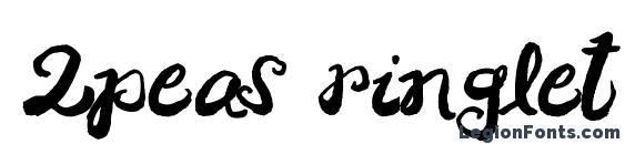 2peas ringlet Font