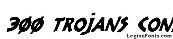 300 Trojans Condensed Italic Font