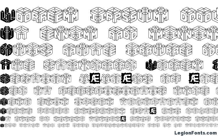 specimens 3D LET BRK font, sample 3D LET BRK font, an example of writing 3D LET BRK font, review 3D LET BRK font, preview 3D LET BRK font, 3D LET BRK font
