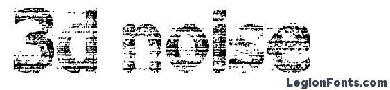 3d noise font, free 3d noise font, preview 3d noise font