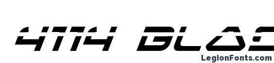 4114 Blaster Laser Italic Font