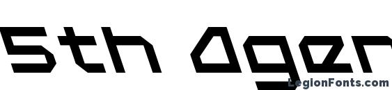 5th Agent Leftalic Font, Bold Fonts