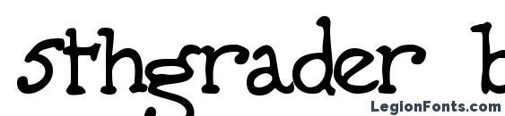 Шрифт 5thgrader bold