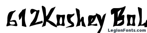 612Koshey Bold Font