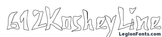 612KosheyLine Bold Font