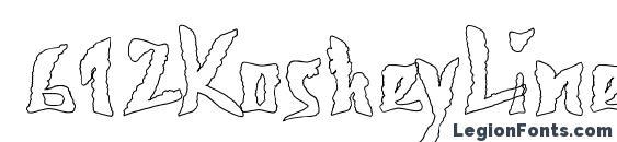 шрифт 612KosheyLinePL Bold, бесплатный шрифт 612KosheyLinePL Bold, предварительный просмотр шрифта 612KosheyLinePL Bold