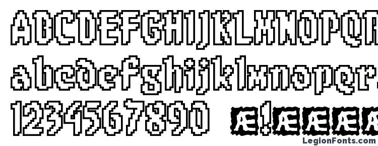 глифы шрифта 8 bit Limit O BRK, символы шрифта 8 bit Limit O BRK, символьная карта шрифта 8 bit Limit O BRK, предварительный просмотр шрифта 8 bit Limit O BRK, алфавит шрифта 8 bit Limit O BRK, шрифт 8 bit Limit O BRK