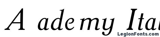 A ademy Italic Font