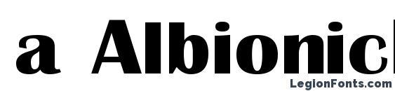 Шрифт a AlbionicExp Bold
