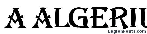 A algeriusblwregular Font