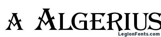 a AlgeriusCaps font, free a AlgeriusCaps font, preview a AlgeriusCaps font
