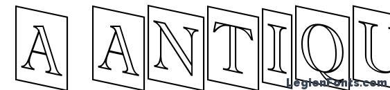Шрифт a AntiqueTitulTrCmDnOtl