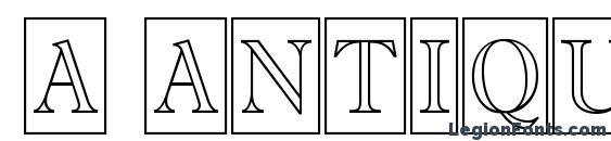 Шрифт a AntiqueTitulTrCmOtl