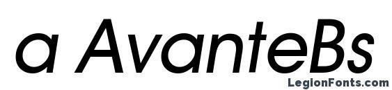 Шрифт a AvanteBs Italic