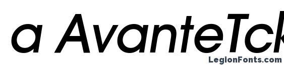 a AvanteTck MediumItalic Font, Russian Fonts