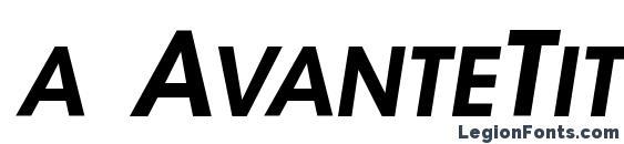 Шрифт a AvanteTitlerCpsUpC BoldItalic