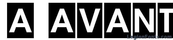 шрифт a AvanteTitulCm Bold, бесплатный шрифт a AvanteTitulCm Bold, предварительный просмотр шрифта a AvanteTitulCm Bold