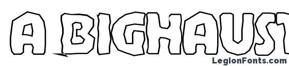 a BighausTitulBrkHll Font, Russian Fonts