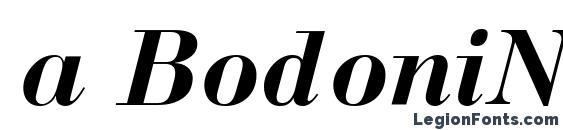 a BodoniNova BoldItalic Font
