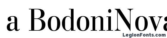 Шрифт a BodoniNovaNr