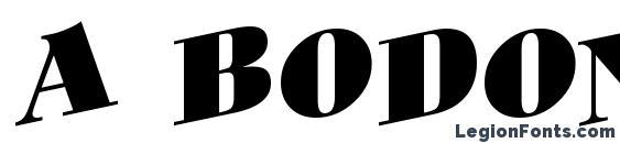 a BodoniOrtoTitulSpUp Black Font
