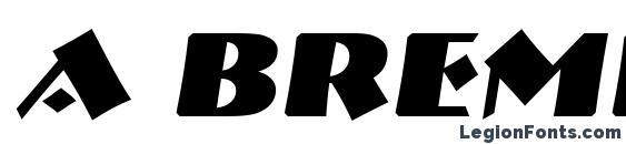 a Bremen BoldItalic Font