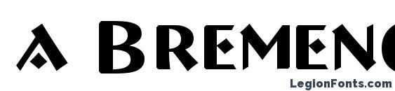 a BremenCaps Font