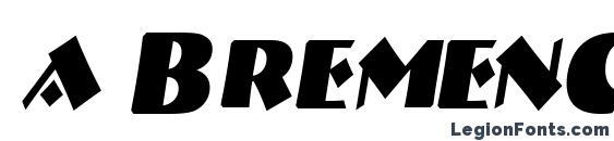 a BremenCapsNr BoldItalic Font