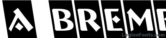 шрифт a BremenCmRevObl, бесплатный шрифт a BremenCmRevObl, предварительный просмотр шрифта a BremenCmRevObl