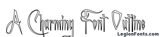 A Charming Font Outline Font, Tattoo Fonts