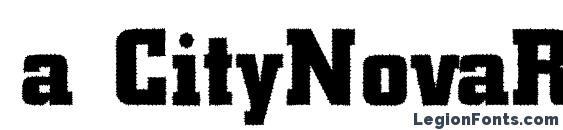 a CityNovaRg Bold Font