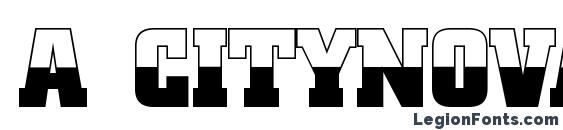 a CityNovaTitulB&W Bold Font