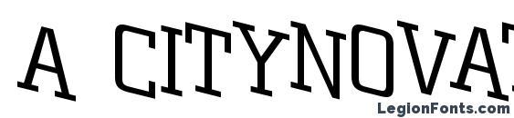 a CityNovaTtlSpDnLt Font