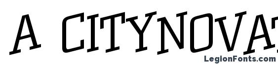 a CityNovaTtlSpUpLt Font