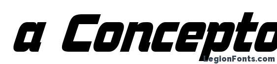 a ConceptoNr BoldItalic Font