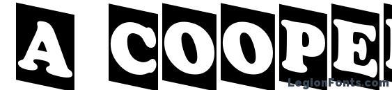 Шрифт a CooperBlackCmDn