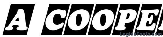 a CooperBlackCmObl Font