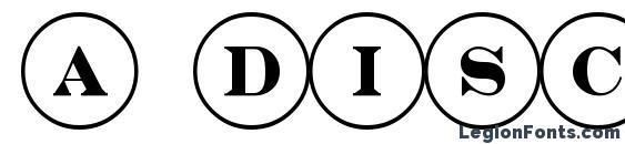 a DiscoSerif Font
