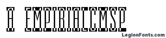 Шрифт a EmpirialCmSp