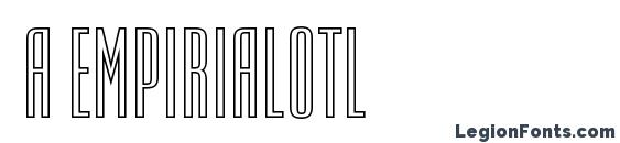 Шрифт a EmpirialOtl