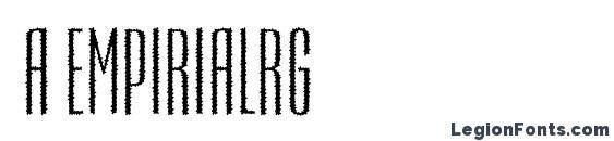 a EmpirialRg Font, African Fonts