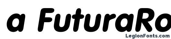 a FuturaRound BoldItalic Font