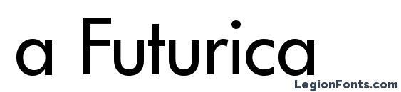 Шрифт a Futurica