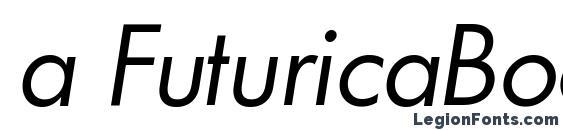 a FuturicaBook Italic Font